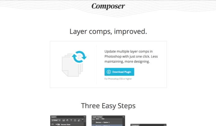 Homepage do site do plugin Composer  (Foto: Repodução/ Lu Fávero)  (Foto: Homepage do site do plugin Composer  (Foto: Repodução/ Lu Fávero) )