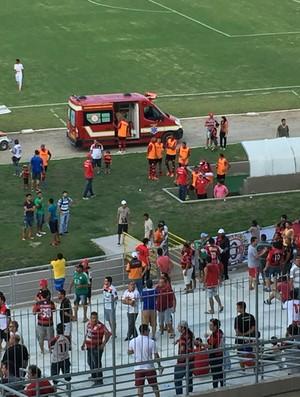 Campinense x América-RN, Amigão (Foto: Silas Batista / GloboEsporte.com)