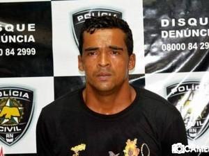 Osvaldo Ferreira de Souza foi preso suspeito de envolvimento na morte de policial militar (Foto: Marcelino Neto/g1)