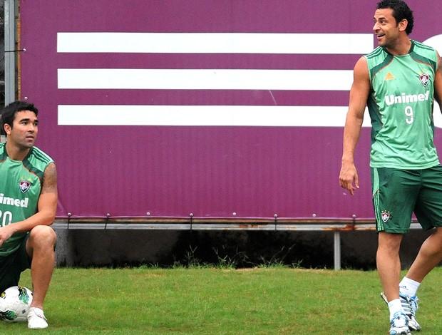Fred e Deco, Fluminense (Foto: Dhavid Normando / Photocamera)