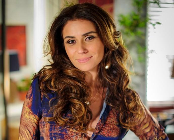 A delegada Helô de Salve Jorge arrasou no cabelo com volume (Foto: TV Globo)