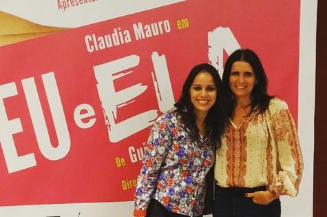 Claudia Mauro e Malu Mader (Foto: Arquivo pessoal)