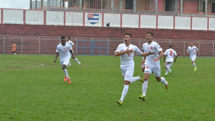 Nacional-SP x União Mogi Gol Dú Paulista Segunda Divisão (Foto: Cairo Barros)