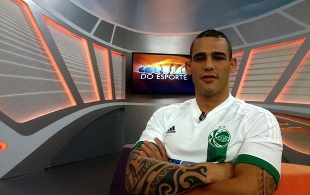 Santiago Ponzinibbio no Corujão do Esporte (Foto: Eliane Martins)