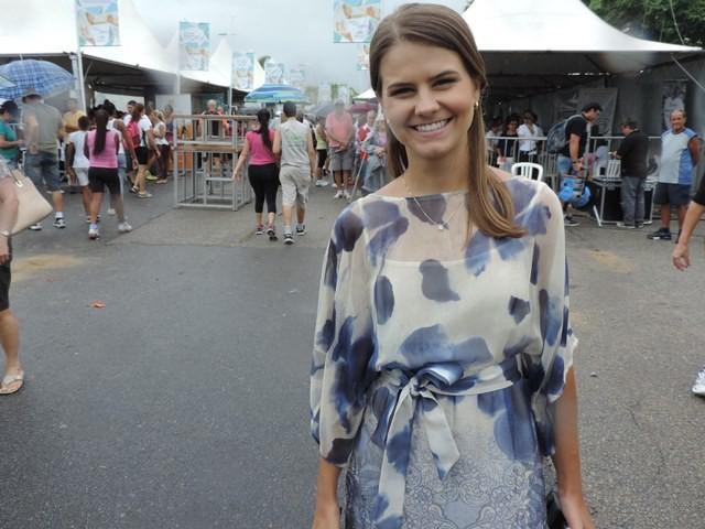 Repórter Mayara Vieira (Foto: Géssica Valentini/G1)