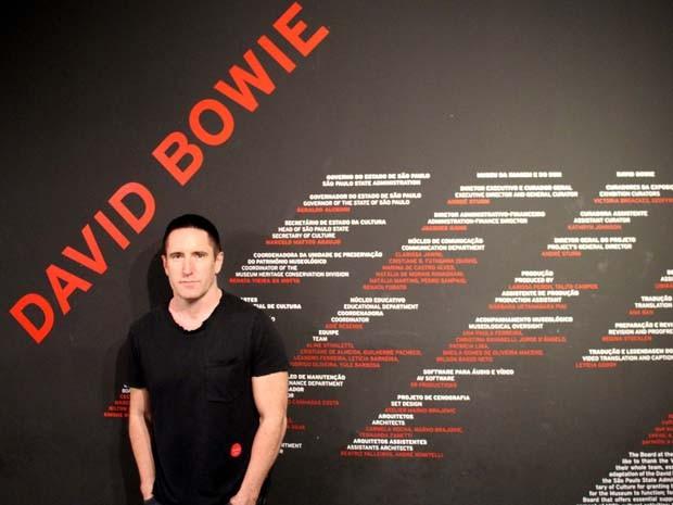 Trent Reznor, do Nine Inch Nails, visita exposição de David Bowie em SP (Foto: Divulgação/MIS)