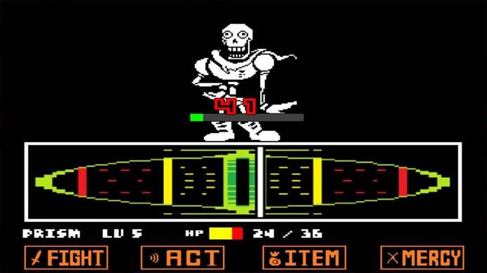 Para seguir a Rota Genocida em Undertale você terá que matar todos, de inimigos comuns a chefes como Papyrus (Foto: Reprodução/Youtube)