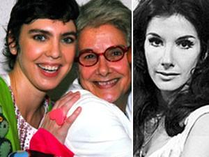Montagem Susana de Moraes com Adriana Calcanhoto e em 1969 (Foto: Cristina Granato/Agência O Globo; Divulgação/TV Globo)