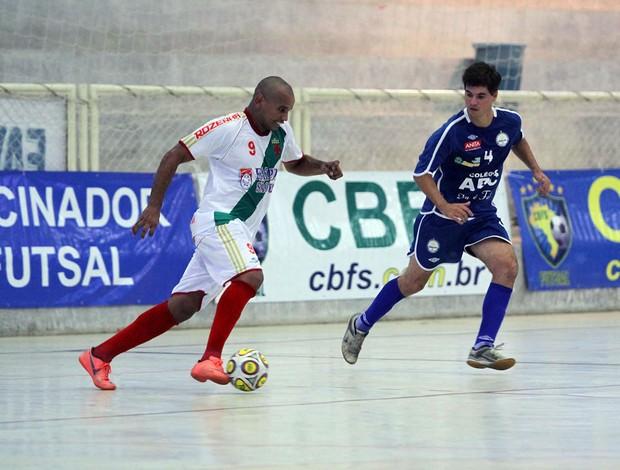Tuna Luno de Manaus vence Colégio ABC, na Taça Brasil de Futsal, em Assú, RN (Foto: Zerosa Filho/CBFS/Divulgação)