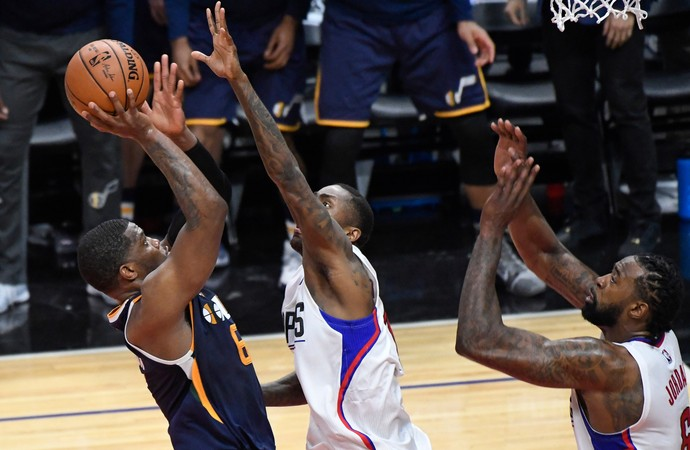 Joe Johnson Clippers x Jazz NBA (Foto: Reuters)
