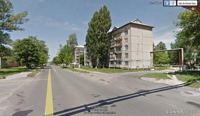 Fotos mostram zona abandonada próxima à usina de Chernobyl (Foto: Reprodução/Google Earth)