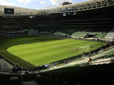 Brasil seleção brasileira ambiente Arena Palmeiras (Foto: Marcos Ribolli)