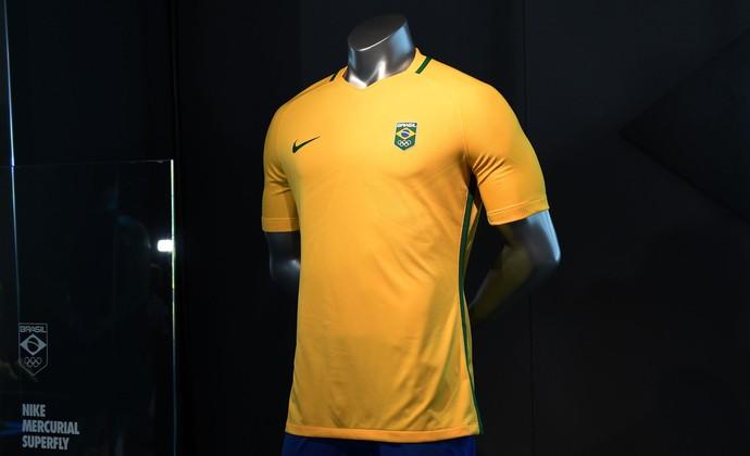 Camisa de futebol para os Jogos Olímpicos Rio 2016 (Foto  André Durão) 6e487c1db527c