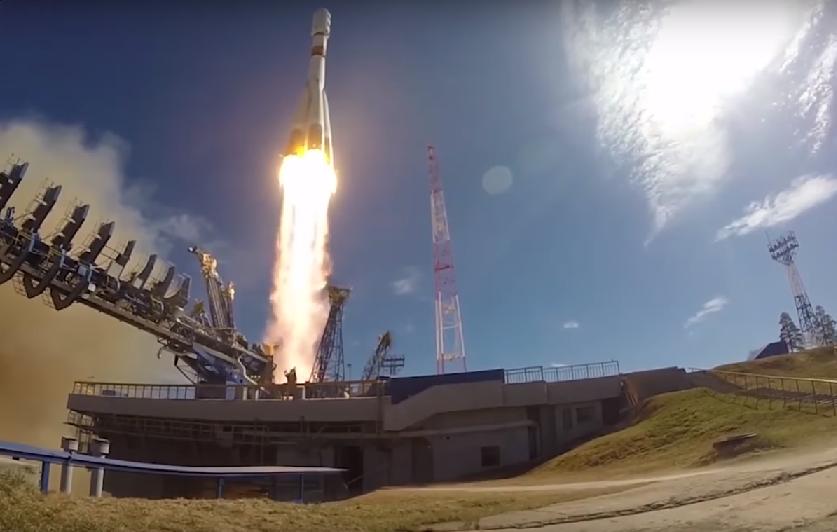 Soyuz-2.1b, tipo de foguete que carregou o satélite Meteor-M (Foto: Reprodução/YouTube)