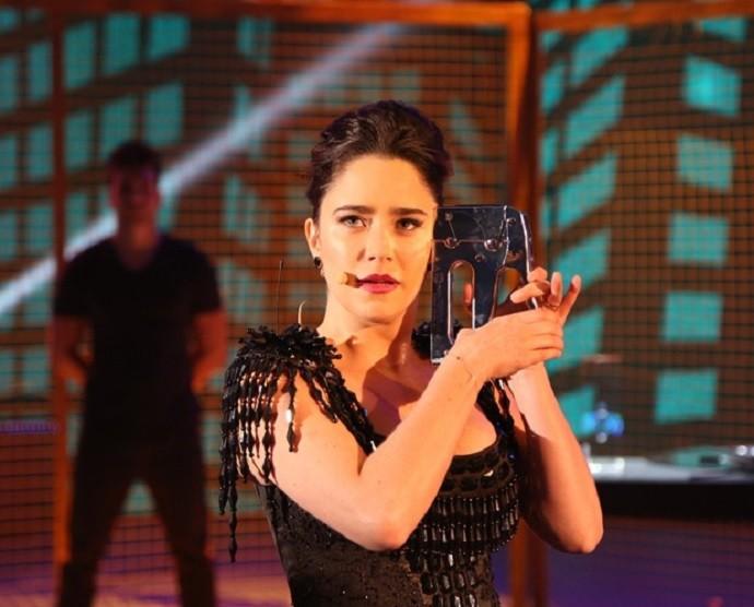 Fernanda Vasconcellos no 'Truque Vip' (Foto: Carol Caminha/Gshow)