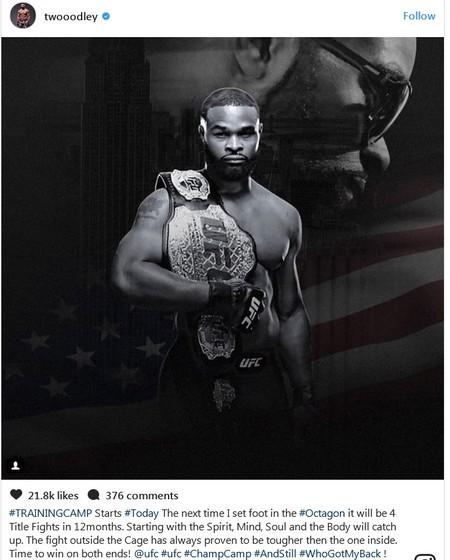 Tyron Woodley UFC (Foto: Reprodução/Instagram)