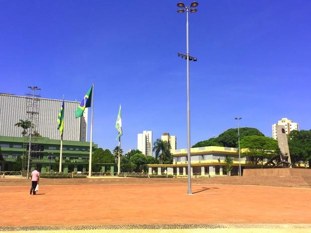 Praça Cívica é inagurada em Goiânia (Foto: Murillo Velasco/G1)