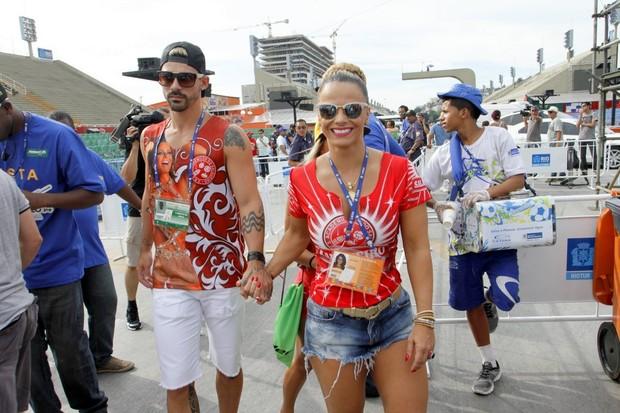 Radamés e Viviane Araújo na apuração dos desfiles do grupo especial do Rio  (Foto  931ed287a9