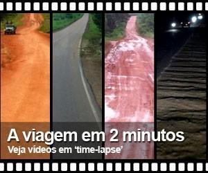 Da boleia, repórter gravou Transamazônia e 163 (Glauco Araújo/Editoria de arte/G1)