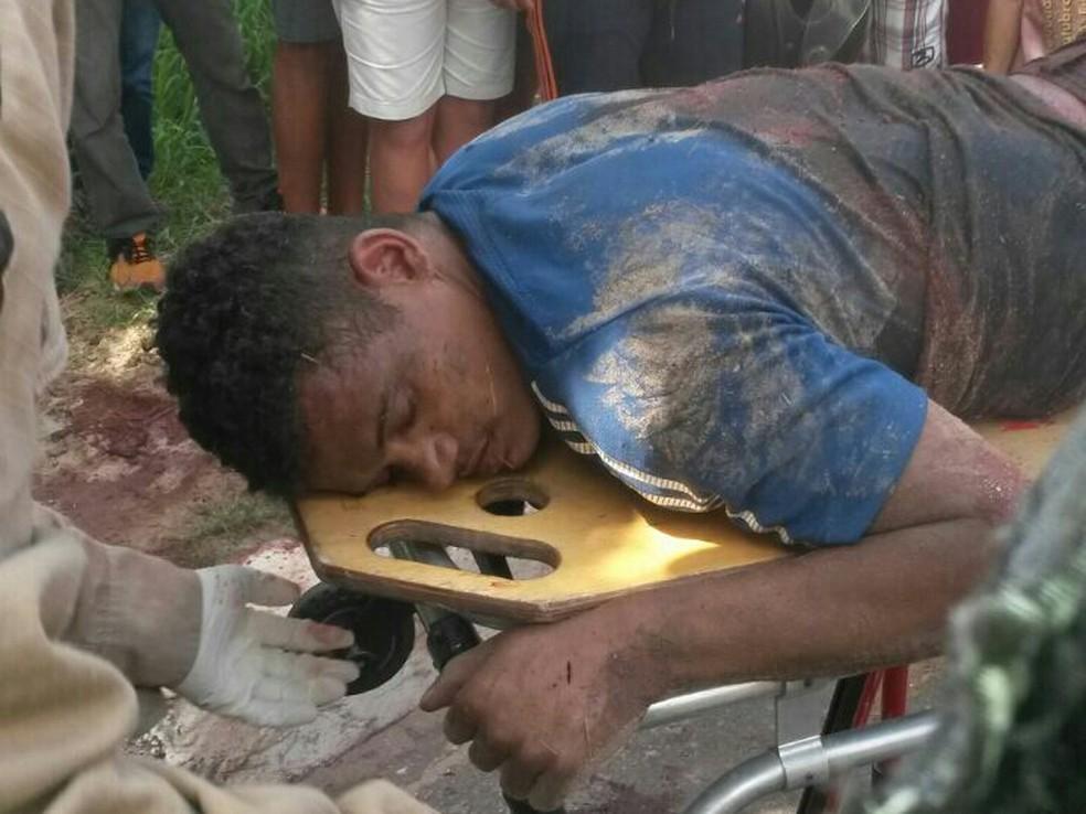 Rafael Silva foi baleado durante a fuga, após roubar coletivo (Foto: Divulgação/PM)