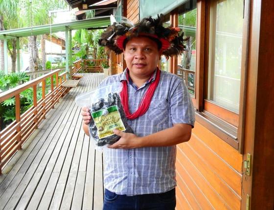 Cacique da tribo e presidente da Associação Soenama do Povo Indígena Paiter Suruí, Isaque Mopilô Tavá Suruí (Foto: Divulgação)