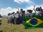 Alunos do Instituto Federal de Goiás protestam contra PEC na Esplanada