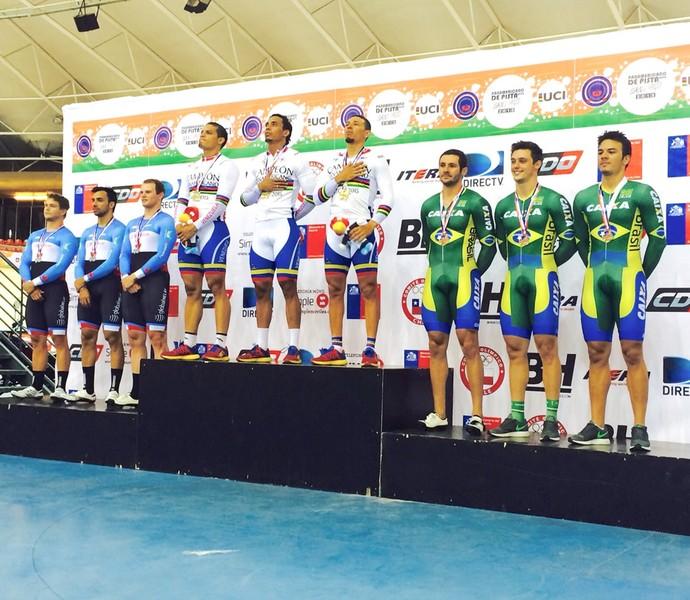 Pan-americano de ciclismo de pista santiago (Foto: CBC/Divulgação)