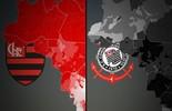 Facebook: Fla e Corinthians dominam o AC em curtidas na web (Editoria de Arte)