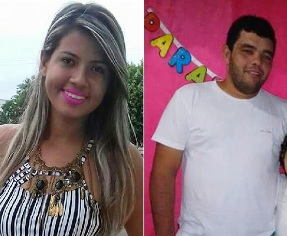 Marina Rane Martins de França, de 21 anos, e Francisco Pablo Teixeira Filgueira, de 28, foram baleados em uma festa no Sítio Cigana (Foto: PM/Divulgação)