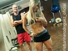 Kadu Moliterno malha com a mulher: 'Casal fitness'