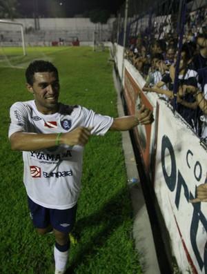 Fábio Paulista marcou o gol da vitória do Remo no amistoso contra o Castanhal (Foto: Tarso Sarraf / O Liberal)