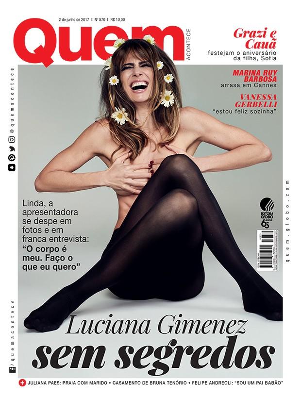 Luciana Gimenez é capa da QUEM (Foto: Pedrita Junckes/Ed. Globo)
