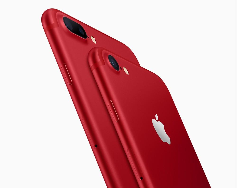 iPhones 7 e 7 plus na cor vermelha são lançados pela Apple, em parceria com a (RED), que mantém programas de combate à AIDS e ao HIV na �frica. (Foto: Divulgação/Apple)