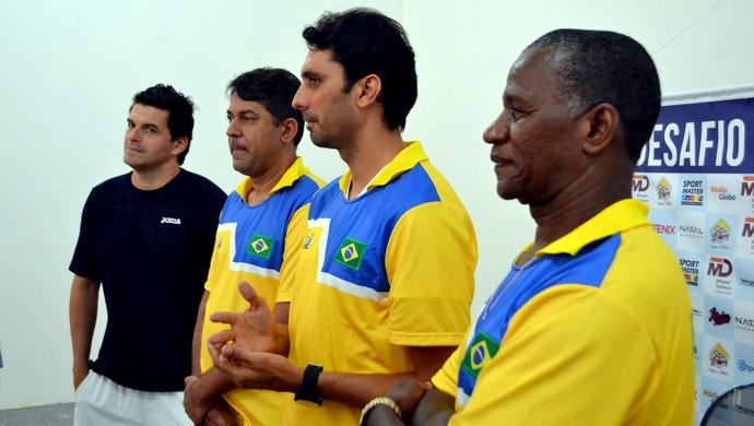 Brasil x Argentina - Mancuso, Júnior Gomes, Athirson e Adílio (Foto: Jocaff Souza/GloboEsporte.com)