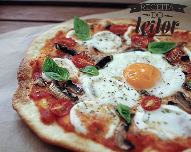 Pizza caseira com ovo (Foto: Blog bomdiaframbuesa.cl)