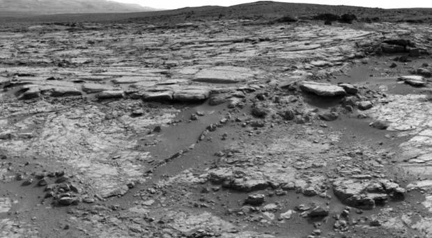 A área de Yellowbayknife Bay, em Marte, pode ter abrigado lago com micróbios (Foto: NASA/JPL-Caltech)