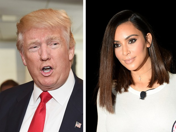 Donald Trump e Kim Kardashian (Foto: Getty Images)
