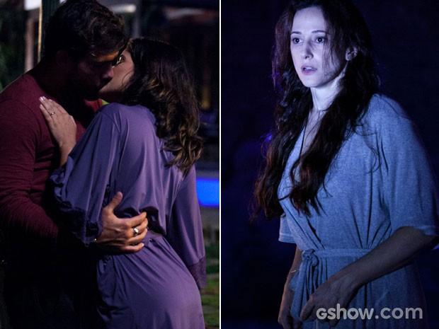 Rebeca flagra Ninho e Aline  (Foto: Amor à Vida / TV Globo)
