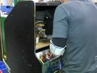 Máquinas apreendidas pelo Gaeco em cassinos irregulares são destruídas
