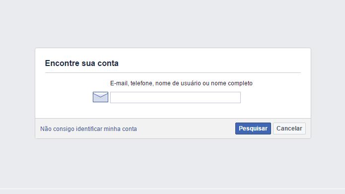Recurso do Facebook ajuda usuários a descobrir se possuem contas na plataforma (Foto: Reprodução/Facebook)