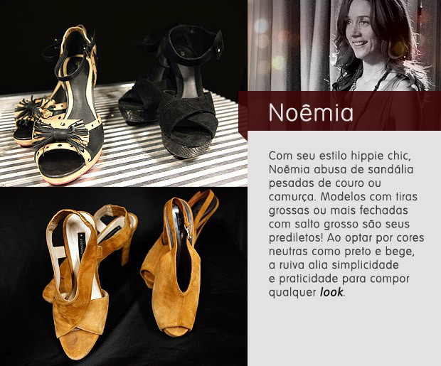 Noêmia sapatos (Foto: Avenida Brasil / TV Globo)