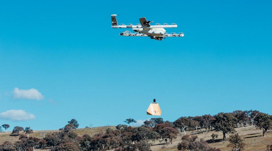 Entrega de drone da Alphabet (Foto: Divulgação)