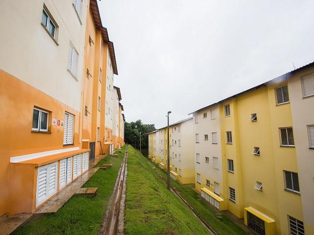 Condomínio Residencial Parque da Mata recebeu a visita do governador  (Foto: Eduardo Saraiva )