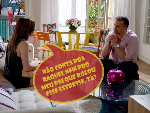 E agora, Olavo? Vai contar para os pais da Lia sobre as ameaças? (Foto: Malhação / TV Globo)