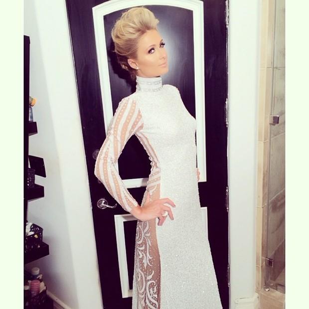 Paris HIlton pronta para o Grammy (Foto: Reprodução/Instagram)
