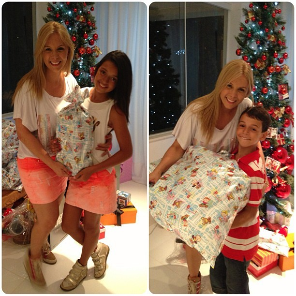 Carla Perez e os filhos (Foto: Reprodução/Instagram)