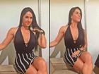 Graciele Lacerda usa vestido sexy para ir a show de Zezé Di Camargo
