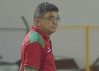 Treinador do Sampaio, Flávio Araújo - no Rio Grande do Norte (Foto: Reprodução/Premiere FC)