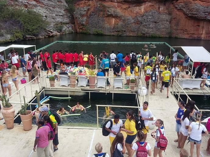 Mundial Escolar de Vôlei de Praia, Cânion de Xingó, Sergipe (Foto: Custódio Santana)