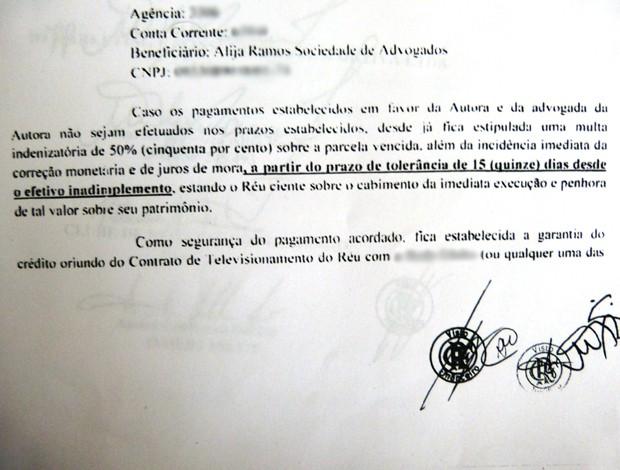 Acordo Deivid (Foto: Reprodução)